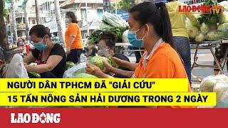 """Người dân TPHCM đã """"giải cứu"""" 15 tấn nông sản Hải Dương trong 2 ngày"""