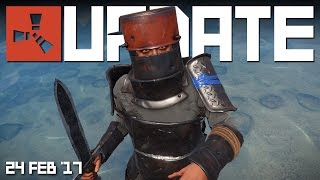 HEAVY ARMOUR! WEAPON SASH! FURNITURE! | RUST update news 24th FEB '17