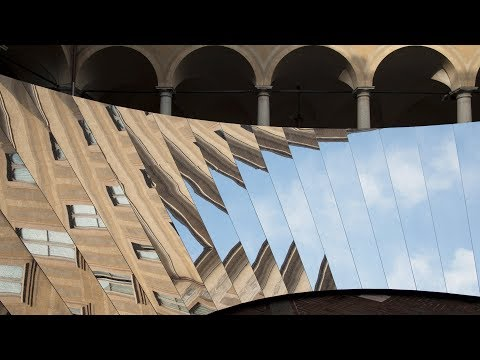 Phillip K Smith III and COS create wall of mirrors in historic Italian palazzo