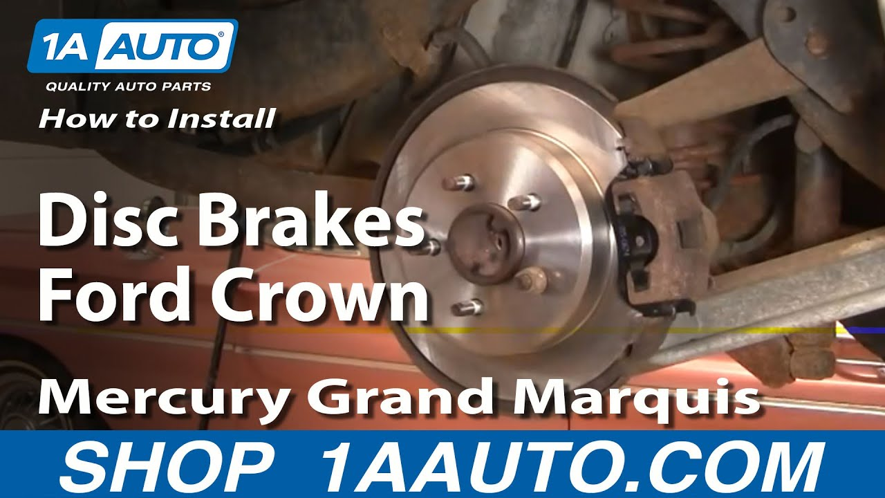 How To Install Replace Rear Disc Brakes Ford Crown