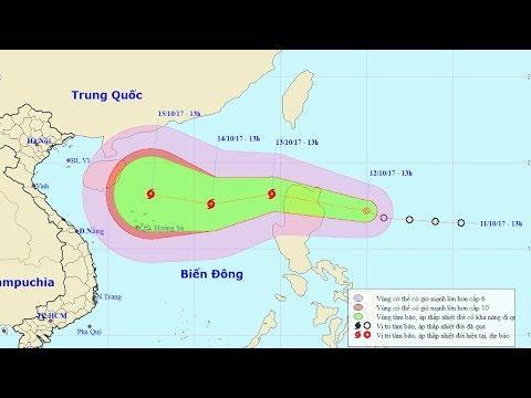 Tin áp thấp nhiệt đới  Đêm 12/10/2017 : Áp Thấp gần Biển Đông