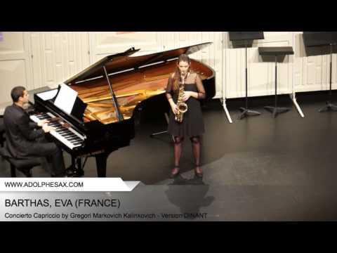 Dinant 2014 - BARTHAS Eva (Concierto Capriccio by Gregori Markovich Kalinkovich - Version DINANT)