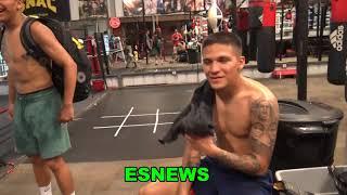 ROBERT GARCIA ON MIKEY VS GERVONTA DAVIS TEOFIMO LOPEZ AND RYAN GARCIA  - esnews boxing