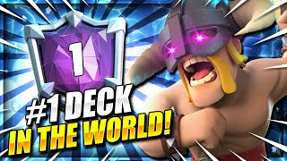 WORLD'S #1 HIGHEST RANKED DECK IN CLASH ROYALE.. it's E-BARBS!! 😱
