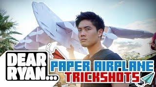 Ultimate Paper Airplane Trickshot! (Dear Ryan)