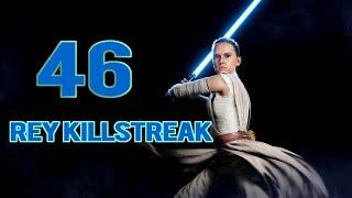 Star Wars Battlefront 2: 46 Rey Killstreak!