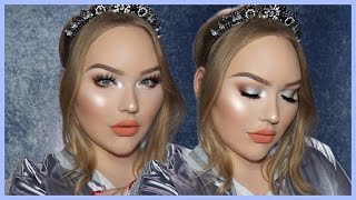 EASY & GLOWY Silver Holiday Glam Makeup Tutorial