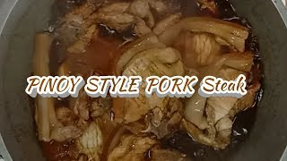 How to cook Pinoy style Pork steak