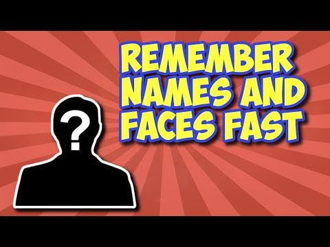 How To Remember Names And Faces EASILY - Memory Techniques