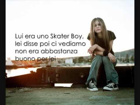 Baixar Avril Lavigne, Sk8er Boy Traduzione in italiano.