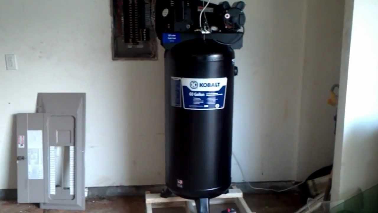 compressors kobalt 60 gallon air compressor. Black Bedroom Furniture Sets. Home Design Ideas