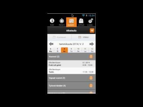 SoftOne Henkilöstö - Älypuhelimissa toimiva ohjelmisto