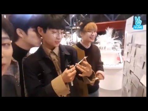 JBJ Pop-up Store Vlive - Kiss Donghan strikes again