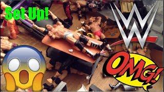 ULTIMATE WWE action figure set up