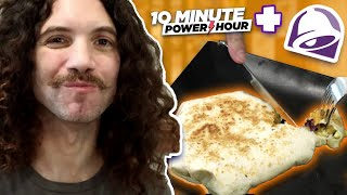 Making a TACO BELL AM CRUNCHWRAP at home! - 10 Minute Power Hour