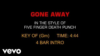 Five Finger Death Punch - Gone Away (Karaoke)