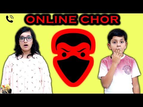 ONLINE CHOR   Hindi Moral story for kids   Good Habits   Aayu and Pihu Show