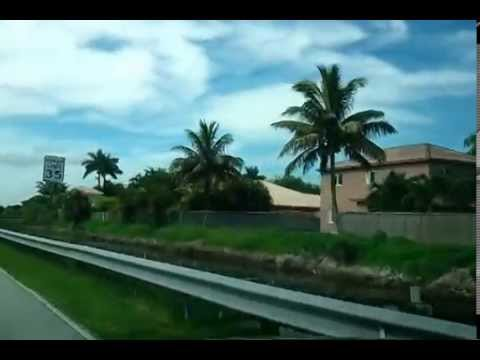 Driving South on NW 77Ct to Miami Lakes Drive (NW 154st)