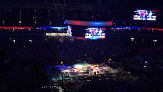 Final Four 2018 National Anthem sung by 4 students one from each school San Antonio Alamodome