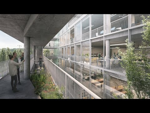 "Euroboden reveals visuals of ""brutalist"" Hammerschmidt office in Munich"