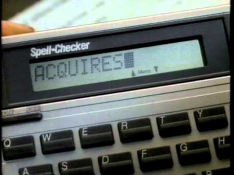 Texas Instruments Spell Checker Commercial (1989)