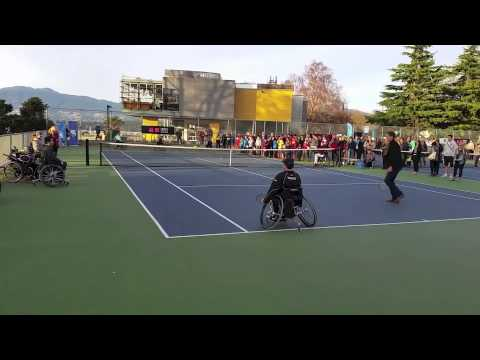 Wheelchair Tennis Players Rally With Vasek Pospisil