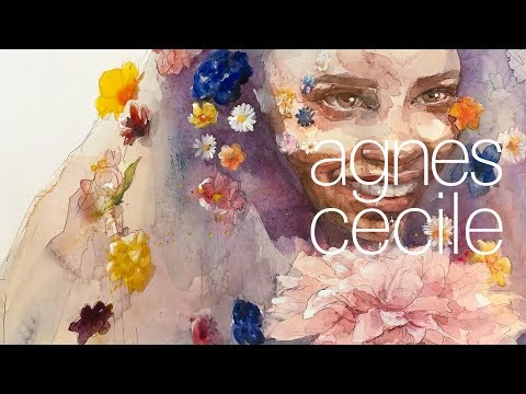 eccentric beauty – watercolor portrait