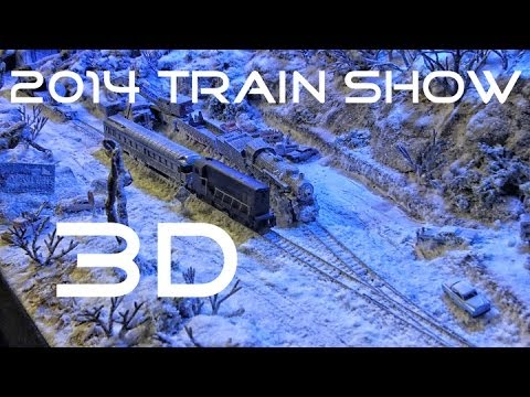 Calgary 2014 Train Show in 3D