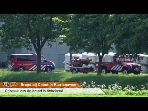 Brand bij Cabot in Klazienaveen