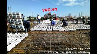 Thi công Công nghệ xây dựng sàn phẳng, sàn nhịp lớn, sàn không dầm 3D PANEL VRO