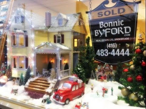 Our Christmas window display! (Bonnie Byford Real Estate Ltd. Brokerage)