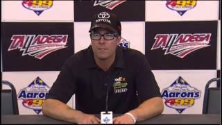 J D Gibbs Winning Car Owner Talladega Interview NASCAR Video