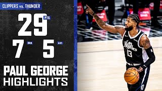 Paul George (29 PTS 7 REB) Full Highlights vs. Oklahoma City Thunder | LA Clippers