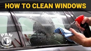 HOW TO CLEAN CAR WINDOWS LIKE A PRO !!