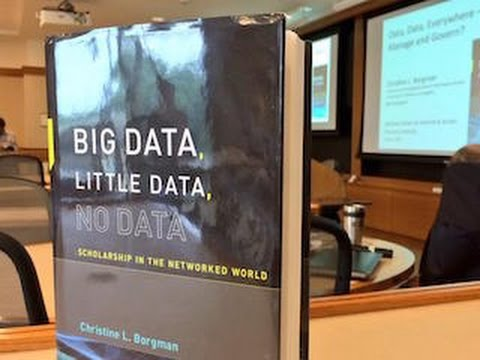 Christine Borgman: Data, data everywhere - but how to manage and govern?