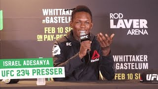 Israel Adesanya: UFC 234 Post-Fight Press Conference
