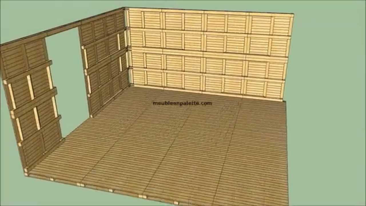 comment construire une maison avec des palettes youtube. Black Bedroom Furniture Sets. Home Design Ideas