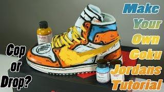 2e9a943e301b Goku Off White Jordan 1  Full Custom Off-White Air Jordan. Custom Shoes