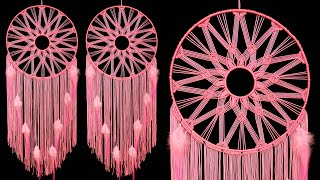 How to tie easy knot wall hanging dream catcher : Easy Handcraft project