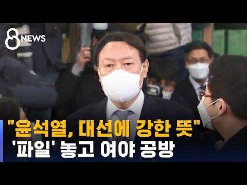 """""""윤석열, 대선 강한 의지 있다더라""""…'윤석열 파일' 공방 / SBS"""