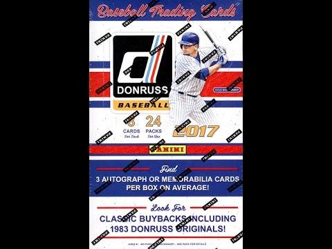 Box Busters: 2017 Donruss Baseball