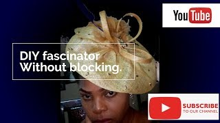 HOW TO MAKE WEDDING FASCINATORS WITH CRINOLINE  DIY Tutorial