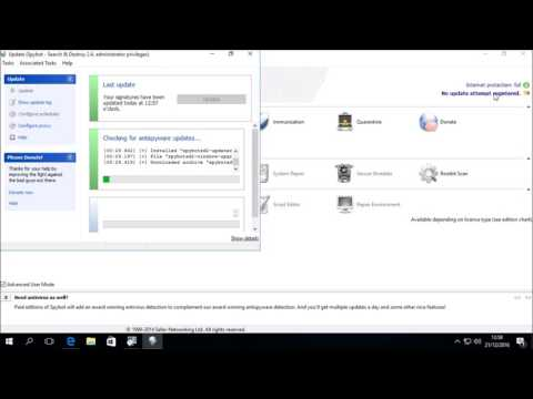 Upgrading Spybot 2.4 to Spybot 2.5 on Windows 10