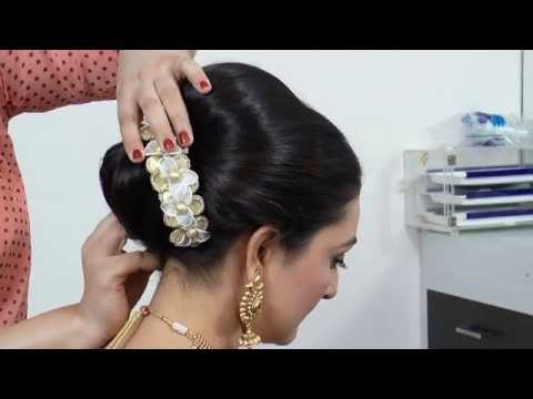 Indian Asian Bridal Hairstyle Tutorial Videomoviles