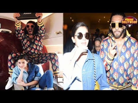Ranveer Singh's In Flight Masti With Alia Bhatt | Bollywood News