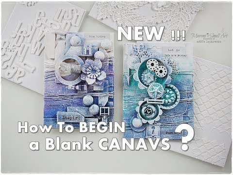 How to Break A Blank CANVAS Mixed Media for Beginners #2 ♡ Maremi's Small Art ♡