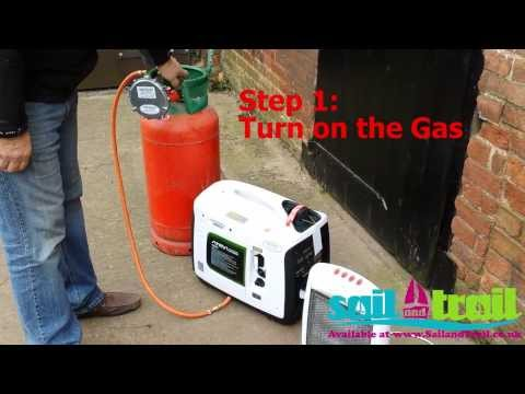 ATIMA IG2000 LPG Start and Running a Heater Demonstration