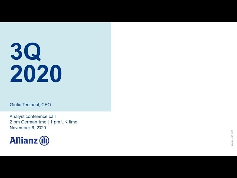 Allianz Group Analyst Conference Call on 3Q 2020
