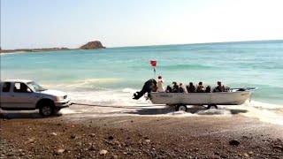 ¡paseo en barco sin muelle y sin mojarse!