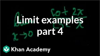 Limit Examples w/ brain malfunction on first prob (part 4)